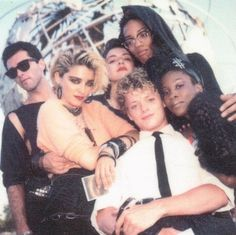 Madonna, Christopher Ciccone, Maripol, Martin Burgoyne, Bagz and Erika Belle in Madonna Young, Madonna Rare, Lady Madonna, Madonna 80s, Music Icon, Her Music, Music Is Life, Madonna Albums, Madonna Music