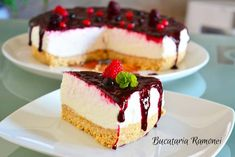 Romanian Food, Artisan Food, 200 Calories, Cheesecakes, Yummy Cakes, Dessert Recipes, Food And Drink, Cooking Recipes, Yummy Food