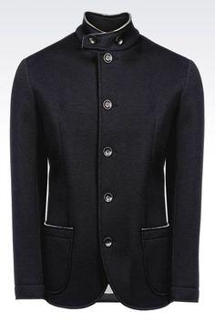 ARMANI COLLEZIONI | Jackets Jersey Jacket with Mandarin Collar