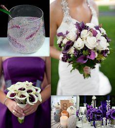 Very classy and elegant%u2026definitely an option..Wedding Color Pallet Palette Royal purple calla lily eggplant white