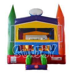 The crayon theme custom bouncing castle with low price at sunjoy.