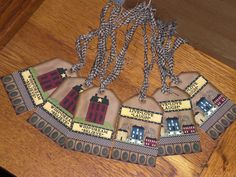 6 Primitive Hang Tags Gift Ties  Salt Box  Sheep  by ChooseMoose, $3.25