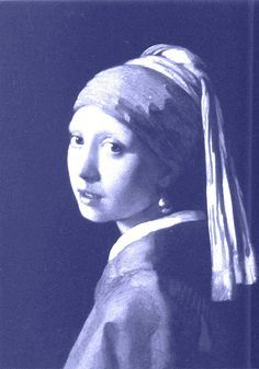delfts blauw - Girl with pearl - a la painting Vermeer