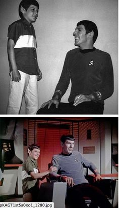 Leonard Nimoy with his son adam. If this is not attractive, then nothing is.