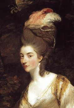 18th century fashion for hair piled high (tall was all the rage) in England...
