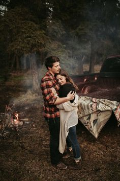 Sweet and Intimate anniversary session with a campfire and chevy truck. Cute Couple Poses, Couple Posing, Couple Shoot, Cute Couples, Couple Photography, Engagement Photography, Engagement Session, Photography Tools, What To Wear Photoshoot