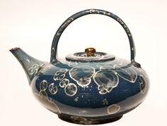 Crystalline-glaze ceramic teapot by Bill Boyd