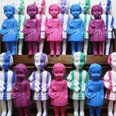 Fantastica shop ファンタスチカ雑貨店 pop, kitsch, retro, zakka from Japan クロネットドール Clonette dolls made from recycled plastic