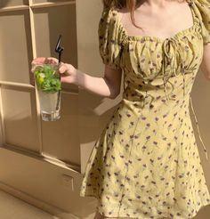 Yellow Sundress, Yellow Floral Dress, Long Sleeve Floral Dress, Casual Floral Dresses, Vintage Floral Dresses, Short Floral Dress, Summer Floral Dress, Dresses For Summer, Long Sleeve Dresses