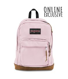 With its signature suede leather bottom, the JanSport Right Pack is the iconic backpack. With an internal 15 inch laptop sleeve and front organizer pocket, the Right Pack is sure to be the best backpack for wherever your day takes you.