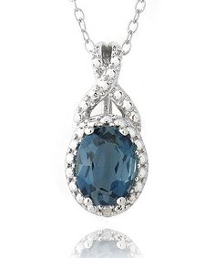 London Blue Topaz & Sterling Silver Round Pendant Necklace by Designs by FMC on #zulily