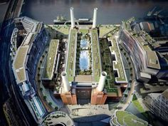 Located in southwest London, the Battersea Power Station borders the Thames River. - Battersea Power Station