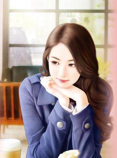 @Ying——Ying采集到ღ【美人手绘】ღ(5536图)_花瓣插画/漫画