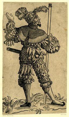 Landsknecht by Christoph Amberger, ca. 1525-1530.