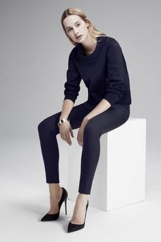 This Is The Minimalist Wardrobe You've Been Dreaming Of #refinery29 | Atea Sweatshirt, $385, available at Atea; Atea Skinny Pants, $265, available at Atea.