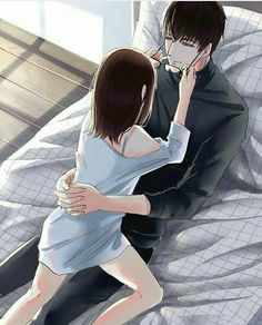 Cute Couple Drawings, Anime Couples Drawings, Anime Couples Manga, Romantic Anime Couples, Cute Couples, Anime Couples Cuddling, Anime Couples Sleeping, Manga Couple, Anime Love Couple
