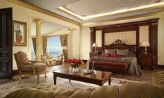 The Royal Suite, Mardan Palace Hotel, Turkey Luxury Rooms, Luxury Decor, Luxurious Bedrooms, Royal Bedroom, Dream Bedroom, Master Bedroom, Mardan Palace, Resorts, Elite Hotels