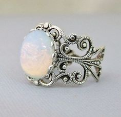 Opal Rings Opal Jewelry October Birthstone by pinkingedgedesigns, $19.00...
