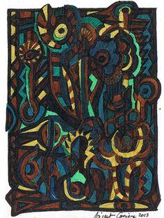Vincent Carriere geboren 1975 in Südfrankreich, zu sehen auf www.aussenseiterkunst,ch und www.artbrut.il