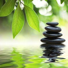 Pebbles on a calm pond.