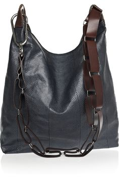 Pauric Sweeney's slouchy snakeskin and leather shoulder bag