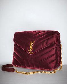 4141b5bae0c7 LouLou Monogram Small Velvet Shoulder Bag Saint Laurent Bag