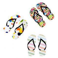 Customizable flip flops.