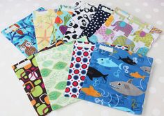 Reusable Sandwich Bags or Snack  Bags Set of by Johnsonfamilyzoo, $30.00