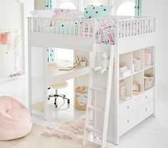 Buy more, save more is now on - save up to on the Ava Regency Loft Bed. Offer ends Monday! Bedroom Loft, Dream Bedroom, Bedroom Decor, Attic Bedrooms, Bed Rooms, Girl Rooms, Girls Loft Bedrooms, Bedroom Ideas, Girls Bedroom Furniture