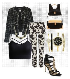 """Sin título #57"" by pamphil ❤ liked on Polyvore featuring Chanel, MaxMara, B Brian Atwood, 1928 and Balenciaga"