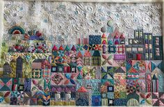 My Small World, pieced by Chris Barnard, quilted by Prairie Quilting