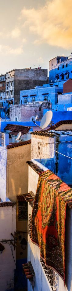Blue city in Morocco -
