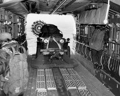 This is one of the most impressive photos I have seen from the Korean War. When was the last time you saw a Jeep M38 a split second before it was dropped out of an aircraft? The Willys Jeep itself is interesting, but so is the landing gear and what is throughout the walls of the airplane.