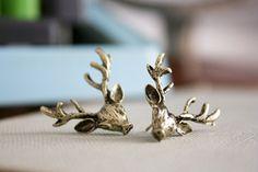 Antler Earrings.  gotta Love em for hunting season