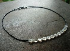 Handcrafted Jewelry Handmade Necklace Shiana Black by JensFancy, $68.00
