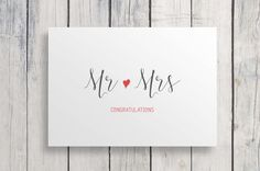 Wedding card, Mr and Mrs, Wedding card congratulations, Wedding congratulations card, congratulations card, mr and mrs card, newlyweds card
