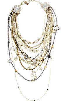 Erickson Beamon Girlie Queen gold-plated, Swarovski crystal and faux pearl necklace  | NET-A-PORTER