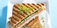 Croque-monsieur au saumon et au Boursin