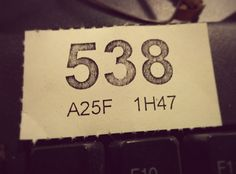 Day 223 Lucky Ticket by Alastair Montgomery, via Flickr