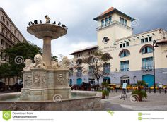 Cuba. Old Havana. Sierra Maestra Havana And Fountain Of Lions On San Francisco Square - Download From Over 45 Million High Quality Stock Photos, Images, Vectors. Sign up for FREE today. Image: 35072666