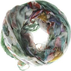 813 - OTTOTREDICI Amabile Spring Green Modal silk scarf ($310) ❤ liked on Polyvore