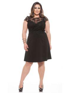 Vestido de festa curto em renda Trancoso - Vestidos de festa plus size para o verão 2016
