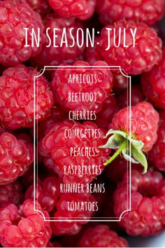 Enjoy fruit and vegetables at their best and save money by eating seasonally. Here's what's in season in July.