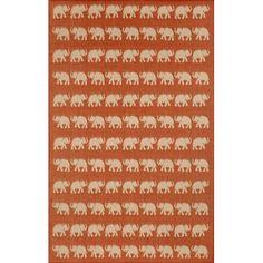 cool Terrace Elephants Terracotta Rectangular: 1 Ft. 11 In. x 2 Ft. 11 In. Indoor/Outdoor Rug Check more at http://yorugs.com/product/terrace-elephants-terracotta-rectangular-1-ft-11-in-x-2-ft-11-in-indooroutdoor-rug/