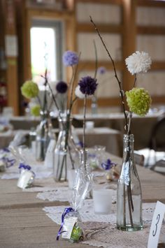 Centerpieces on Banquet tables - My Wedding Centerpiece Decorations, Wedding Decorations, Tabletop Accessories, Banquet Tables, Wedding Flowers, Wedding Stuff, Wedding Ideas, Table Flowers, Wedding Table