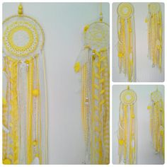 Darling Yellow Dream Catchers with Your by StylishStuffBySteph