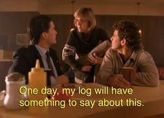 The log lady.One of my favourite Twin Peaks' character.