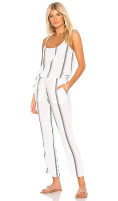 2baa3e6b0295 Preston Jumpsuit in White   Coral Stripe Tavik Swimwear