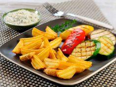 Zemiaky s grilovanou zeleninou a tvarohovým syrom