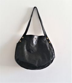 Leather tote  Every day bag  Women bag BLACK